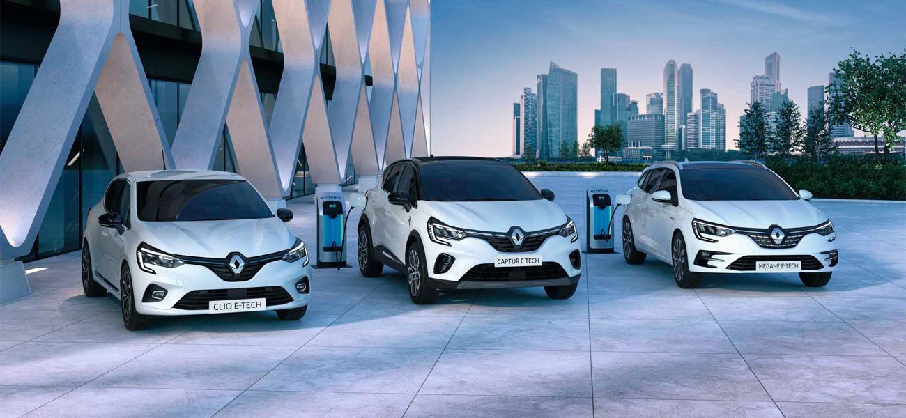 Grupo Renault acelera a estratégia de eletrificação com três inovadoras propostas híbridas